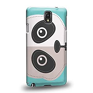 Case88 Premium Designs Art Animals Panda Bear Patches Protective Snap-on Hard Back Case Cover for Samsung Galaxy Note 3