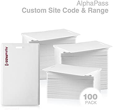 Choose Your Facility Code /& Range. 25 Pack Replaces HID 1326 ProxCard II Standard 26 bit H10301 Format Same Day Custom Programmed AlphaPass Clamshell Proximity Card for Access Control
