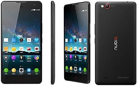 ZTE Nubia Z7 mini Android 4.4 Quad Core Snapdragon 2.0GHz Dual Sim 5.0 pulgadas FHD 4G LTE 13.0MP Smartphone Negro: Amazon.es: Electrónica