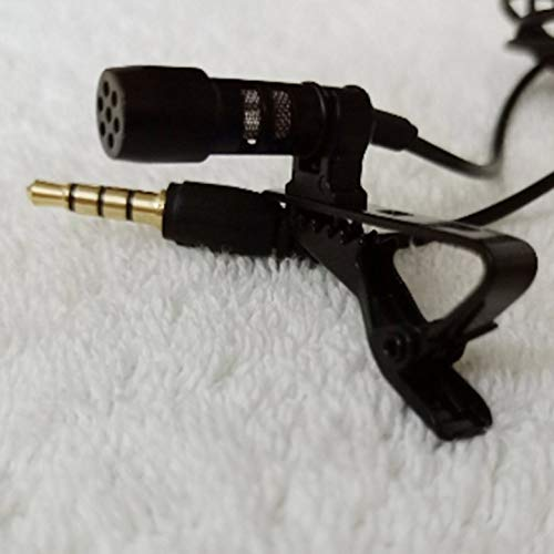 AgoHike Mini 3.5mm Microphone Lapel Lavalier Clip Mic for Conference