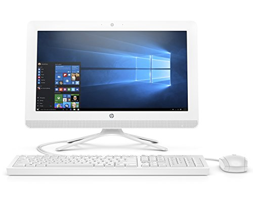 HP 20-inch All-in-One Computer, Intel Celeron J4005, 4GB RAM, 1TB hard drive, Windows 10 (20-c410, White) (Renewed)