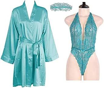 طقم ملابس نوم للعرائس مكون من 4 قطع من IngerT مع قطعة واحدة قناع عين للنساء