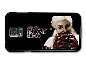 AMAF ? Accessories Game of Thrones Fire And Blood Emilia Clarke Targaryen Quote case for Samsung Galaxy S5