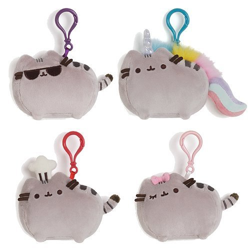 Gund Pusheen the Cat Plush Clip-On Backpack Plush Set by GUND