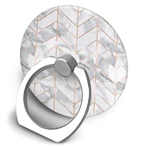 Marble Herringbone Rose Gold Gilt Design Bracket, 360 Degree Swivel Creative Ring Buckle Bracket Multi-Functional Ring Bracket Stand for Universal Phone