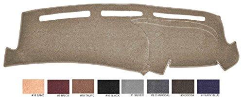 1998-2004 Ford Mustang (No Clock In Dash) Dash Cover Dashboard Cover Mat Dash Pad - Premium Custom Carpet (Taupe)