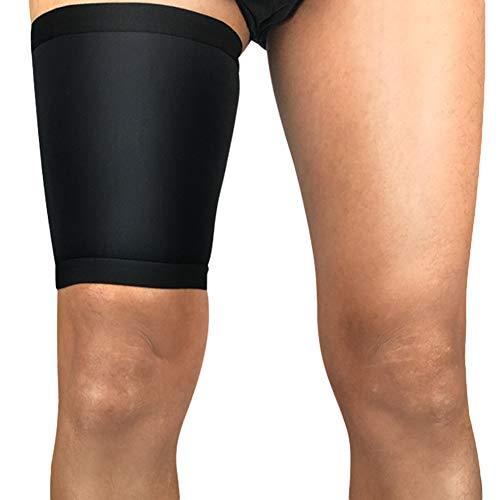 - Aland Sport Leg Thigh Brace Support Stretch Sleeve Unisex Compression Leg Protector Guard Thigh Male Sports Basketball Football Running Compression Leg Set Female Warm Black XL