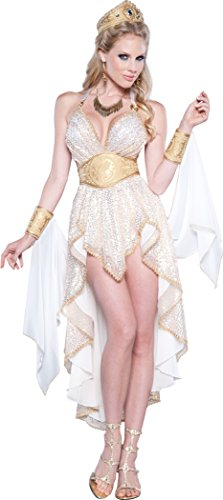 (InCharacter Costumes Women's Glamorous Goddess Costume, Gold/White,)