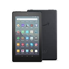 Fire 7 is our best-selling tablet—now 2X the storage, faster quad-core processor, hands-free with Alexa, and 2X as durable as the latest iPad mini. Complete tasks, enjoy movies on the go, browse recipes, or ask Alexa for the weather—making yo...