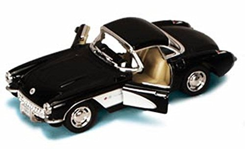 1957 Chevy Corvette, Black - Kinsmart 5316D - 1/34 scale Diecast Model Toy (Diecast 1957 Chevy Corvette)