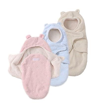 JASA kids Baby Schlafsack innen weich gefüttert Pucksack für Neugeborene zu jeder Jahreszeit verwendbar (Blau)