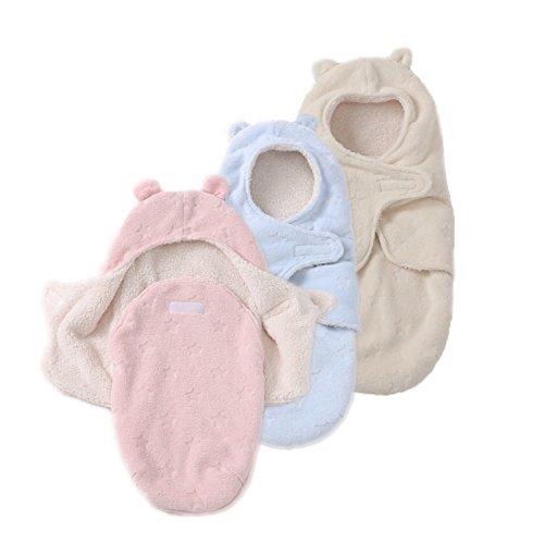 JASA kids Baby Schlafsack innen weich gefüttert Pucksack für Neugeborene zu jeder Jahreszeit verwendbar (Beige) B07B6P3RT5 Pucktücher