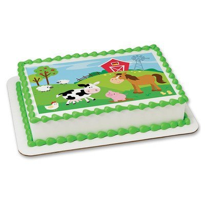 Farm Animals Edible Frosting Sheet Cake Topper - Licensed - 1/4 Sheet by DecoPac