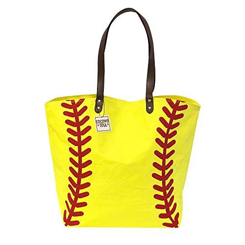 Softball Canvas Tote Bag Handbag Large Oversize Sports 20 x 17 Inches