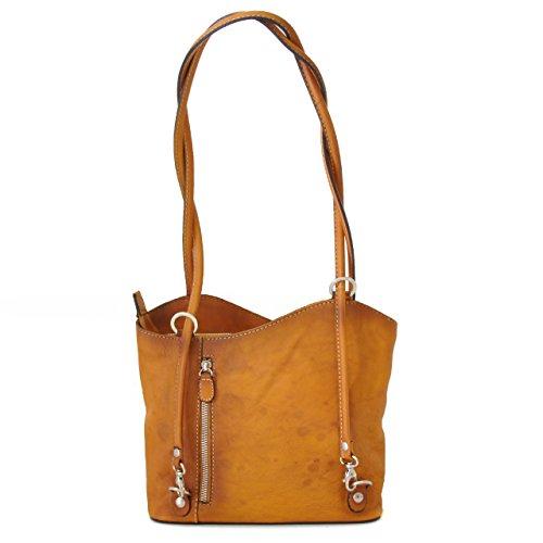 Pratesi Shoulder Bag Consuma Small in cow leather - Bruce Cognac