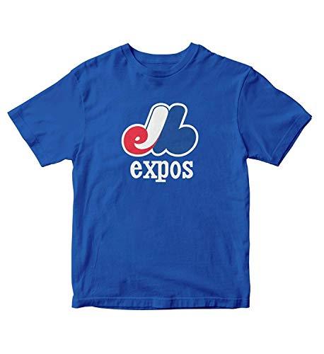 Conla Mens Montreal Expos Baseball Quebec Canada Cotton T-Shirt Blue