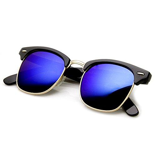 de femme homme CULTE DANDY HIPSTER vintage Noir soleil Miroir mod Kiss Lunettes unisexe Bleu 50xFfRgq