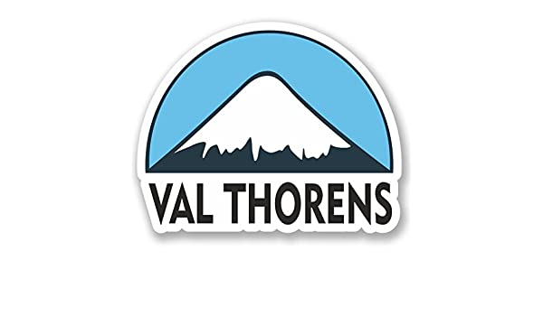2 X Val Thorens Esquí Snowboard Pegatina de vinilo Laptop Viaje Equipaje Coche #5143