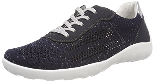 Silver Sneaker Pazifik Remonte R3503 Blau Damen aXax41wOq