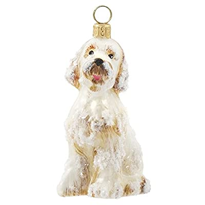 Snow-Covered-Goldendoodle-Dog-Polish-Glass-Christmas-Ornament-Decoration-New