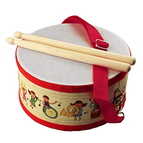 FREAHAP R Kids Drum Wood Toy Drum Set with Carry Strap and Stickers for Kids and Toddlers