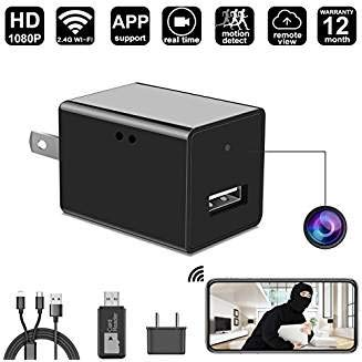 Spy Camera Charger – WiFi Hidden Camera – 1080P Motion Detection – USB Hidden Camera – Surveillance Camera – Mini spy Camera – Date and Time Stamp – Camera Charger – Security Camera – Nanny Cam