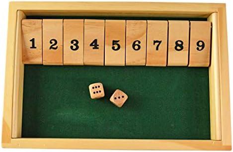 Home-X Classic Juego de Mesa Educativo de Madera con 9 números, Superficie de Fieltro, Juego de Mesa Educativo portátil, 2 o más Jugadores, 9.25 Pulgadas de Largo: Amazon.es: Juguetes y juegos