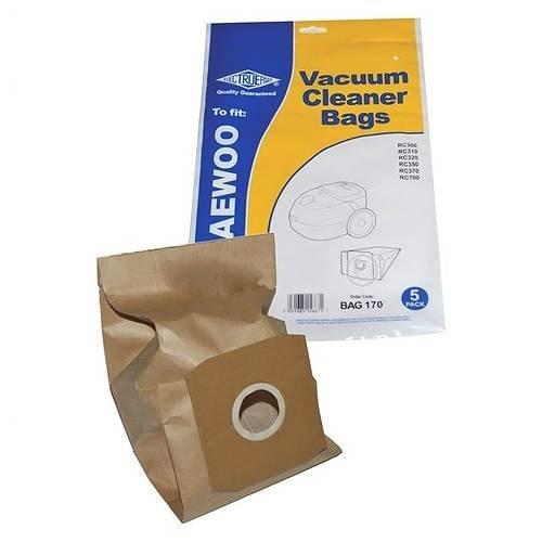 ELECTRUEPaRTE VCB300 Sac à poussière pour aspirateur Lot de 5 sacs pour aspirateurs DAEWOO RC320FP