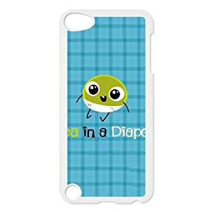 iPod Touch 5 Case White Pea in a Diaper Iwlgg