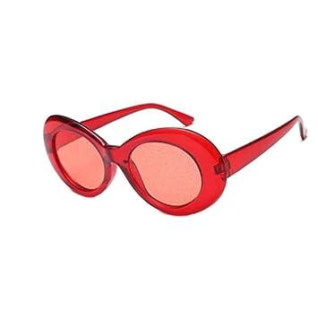 QZHE Gafas de sol Gafas De Sol Ovaladas con Brillo para ...