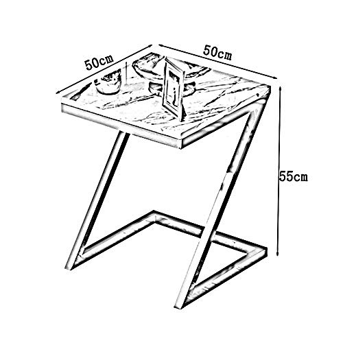 1db4fb1424 ... ZHIRONG Sofa Side Table, Z-Shape Snack Table, Coffee Desk Side Table  End ...