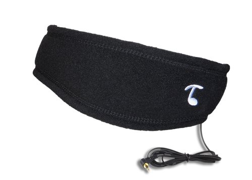 Tooks SPORTEC BAND (FLEECE) - Headphone Headband With Built-in Removable Headphones - COLOR: BLACK, Soft 100% Micro Fleece Keeps You Comfortable From Sports to Sleep, Unique Gift -