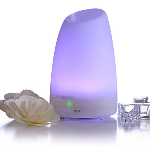 Mermaid Essential Oil Diffuser, Ultrasonic Aromatherapy Oil Diffusers,100ml Cool Mist Aroma Humidifier, Quiet Lamps Diffusers with Waterless Auto Shut-Off, Choose to Turn ON/OFF Button While Running