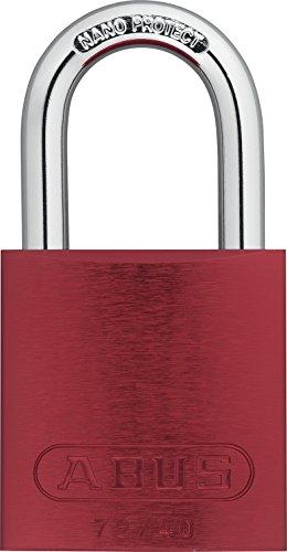 ABUS 72/40 KA Safety Lockout Aluminum Keyed Alike Padlock with 1-Inch shackle, Red (Padlocks American Lockout Safety)