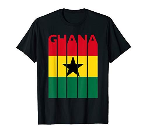 Ghana T-Shirt Vintage Ghana Flag Tee Ghanaian Flag Tshirt