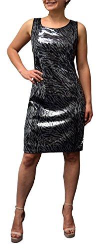 Peach Couture Cocktail Glitter Sparkle Sleeveless Bodycon Mini Dress Zebra XL Zebra Print Sleeveless Dress