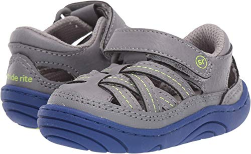 Stride Rite Baby Boy's Amos (Infant/Toddler) Grey 3.5 M US Toddler (Shoes Toddler Rite Stride Boys)