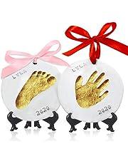 KeaBabies Baby Handprint Footprint Ornament Keepsake Kit - Personalized Baby Prints Ornaments For Newborn - Baby Nursery Memory Art Kit Easel - Baby Shower Gifts Boys, Girls - Baby Registry Gift Box