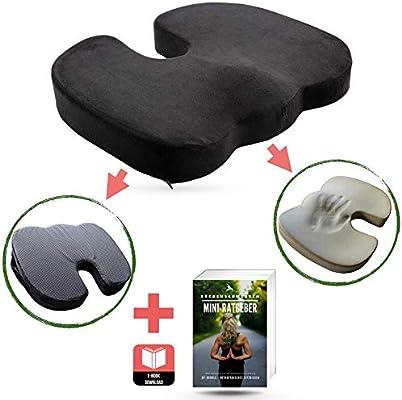 Cojin lumbar silla oficina non-slip I Cojin coxis ortopedico ...