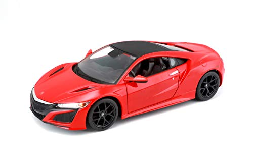 Maisto 2018 Acura NSX Red with Black Top 1/24 Diecast Model Car