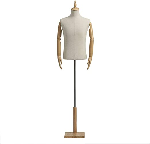 Haipeng Male Mannequin Busts Torso Body Dress Form Manikin With Plastic Arms Stand Dummy Model Clothing Display 2 Sizes Color Wood Size M Amazon Ca Home Kitchen