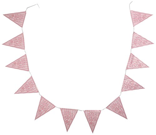It's A Girl Pennant Banner Party Accessory