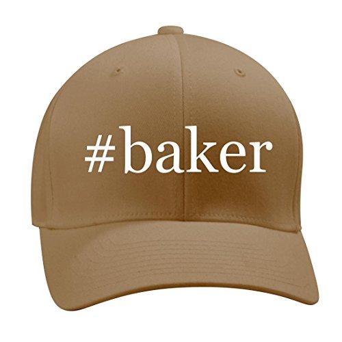 Baker   A Nice Hashtag Mens Adult Baseball Hat Cap  Khaki  Small Medium