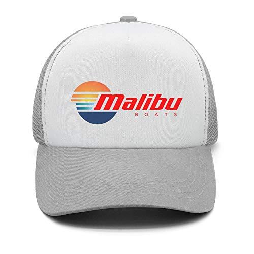 Malibu Hat - Fashion Cap Adjustable Malibu-Boats-Vector-Logo-Simple-red- Grey Classic Dad Hats