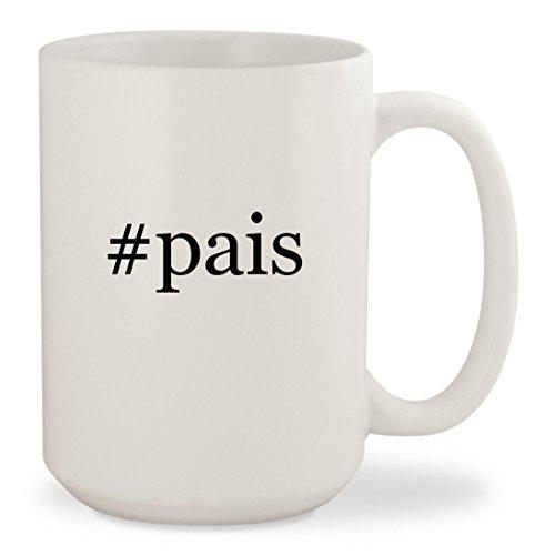 #pais - White Hashtag 15oz Ceramic Coffee Mug (Pai Gow Cup)