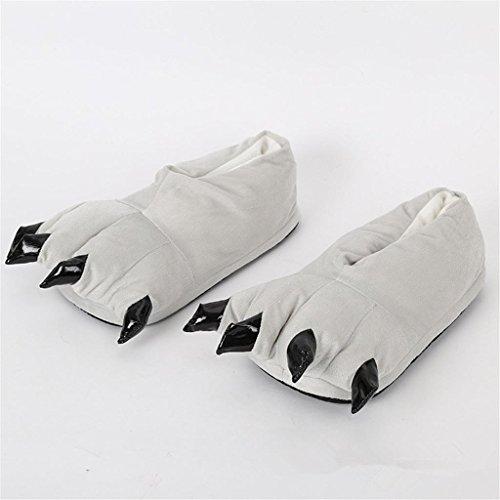 Chaussons Winter Claws Cotton Shoes Hommes et Femmes Cute Children Cartoon Plush Cotton Slippers Home Shoes , 03 , S