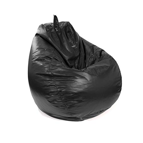 Gold Medal Bean Bags 30011246815TD Gold Medal Microsuede Bean Bag, Medium, Black (Black Bean Bag Leather)