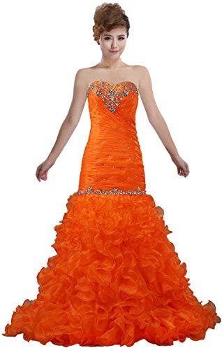 Prom Gowns Bead Women's Sweetheart Long ANTS Dresses Mermaid 0nFtqw