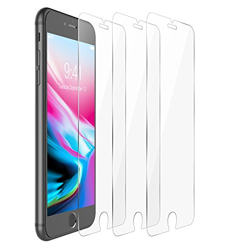 iPhone 8 Plus Screen Protector 3 Pack, F-color iPhone 8 Plus Screen Protector Tempered Glass Clear iPhone 8 Screen Cover Film Anti Scratch Bubble Free Easy to Install HD Clear