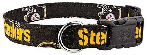 Country Brook Design Steelers Custom Handmade Designer Dog Collar-XL